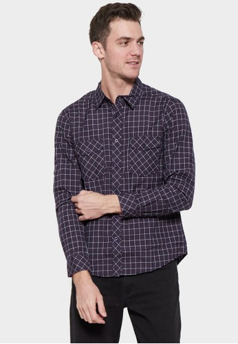NEXT GEN black NEXT GEN Long Sleeve Check Shirt 0015 0E0DBAA6CA51E4GS_1