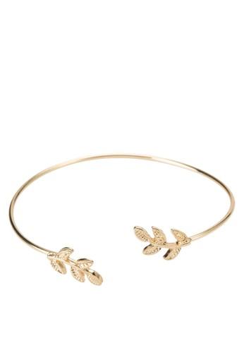 雙葉子開口手環, esprit女裝飾品配件, 手鐲 & 手環