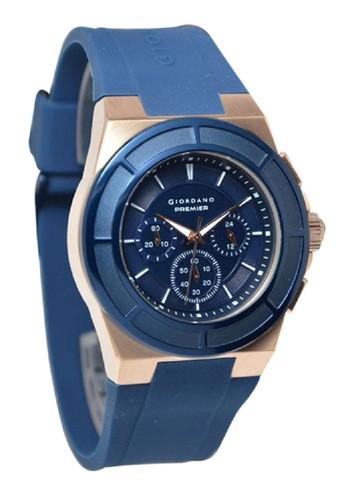 Giordano Jam tangan Pria Biru Rubber Strap P1002-04