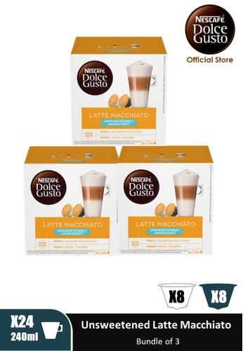 NESCAFE Dolce Gusto [3 Boxes] NESCAFE Dolce Gusto Unsweetened Latte Macchiato Capsules (16 servings Per Box) 97F23ESCB9EE66GS_1