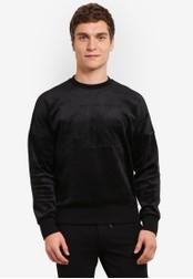 Calvin Klein black Pullover Serif Logo Sweatshirt - Calvin Klein Jeans CA221AA0S9CAMY_1