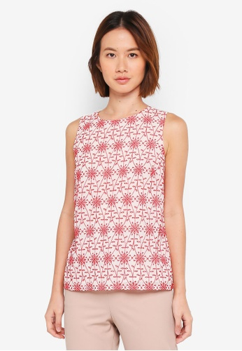 Dorothy Perkins red Red Cutwork Shell Top 35908AA949ABACGS_1