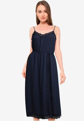 Vero Moda navy Jeanne Singlet Calf Dress BDC0BAA490E608GS_1