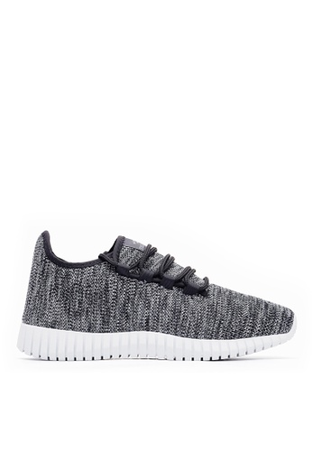 Life8 black Casual Knitted Sneaker Sport Trainers-Black-09745 AB7FASH05EA01CGS_1