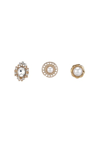 niko and ... gold Embellished Earrings 5E651ACD564D17GS_1