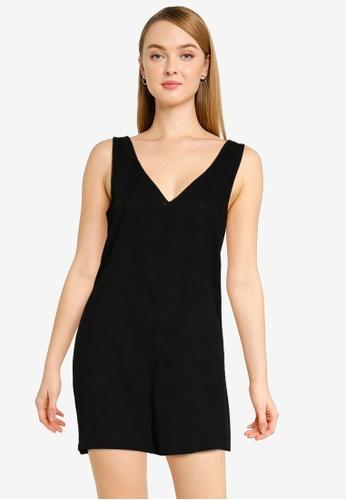 Cotton On black Woven Jess Tie Back Romper E8D57AAB1BFE5DGS_1
