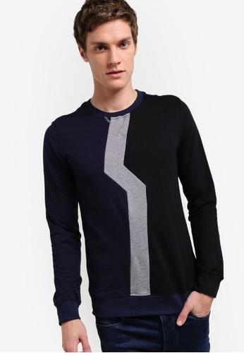 Murzaman blue Techno Sweatshirt MU501AA38NHXMY_1