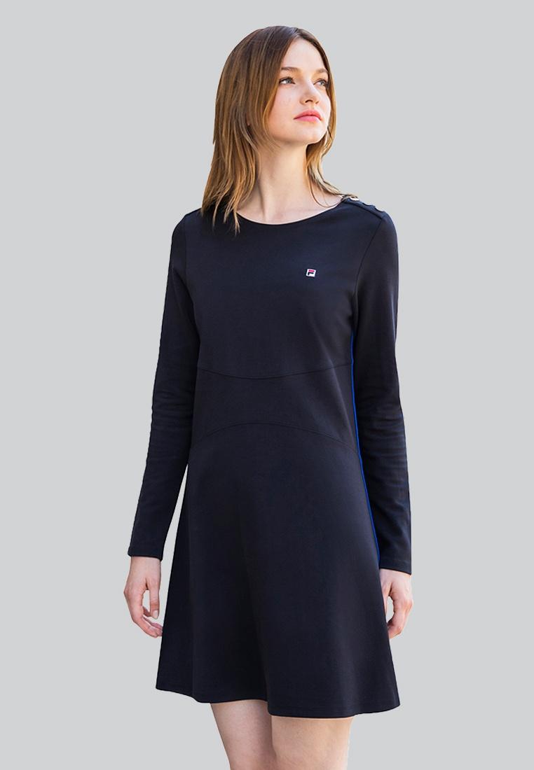 Dress Pleated Dress Ginny Navy FILA Ginny FILA Navy Pleated qE1p4wwWBd