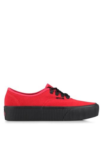 VANS red Authentic Platform 2.0 Embossed Sneakers VA142SH0SHOMMY_1