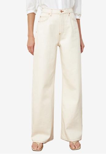 Trendyol white High Waist Wide Leg Jeans 2ABF9AACF1580CGS_1