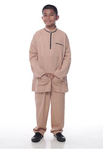 Denai Boutique beige Baju Melayu Sayyed AA8E8KA8A1AC3CGS_1