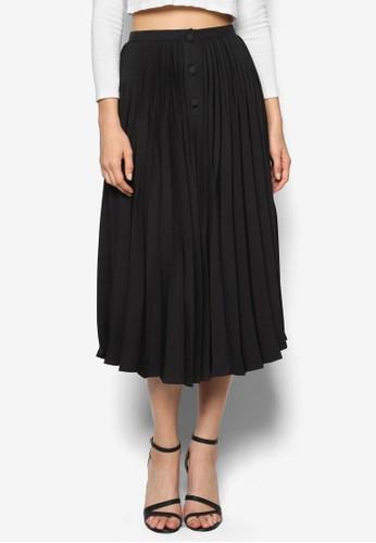 百褶及膝裙, zalora 包包評價服飾, 裙子