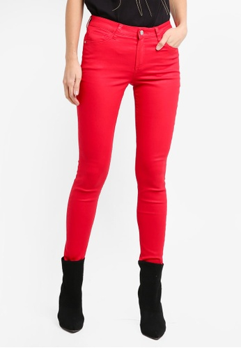 Mango red Waxed Skinny Belle Jeans 42843AAB45DEB0GS_1