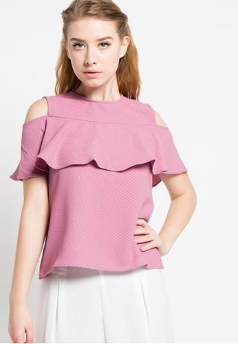 EDITION pink Ruffles Blouse ED101AA28DUXID_1