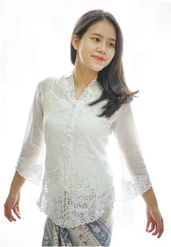 Anneira white Zola long sleeve kebaya 589D9AA301FCB9GS_1