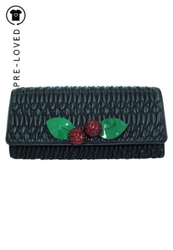 Miu Miu black Pre-Loved miu miu Black Cherry Wallet On Chain CCA64AC544C2BAGS_1