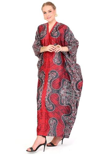 Kanzi by liza yahya red Kanzi Exclusive Long Sleeve Batik  Red 05A50AAC308558GS_1