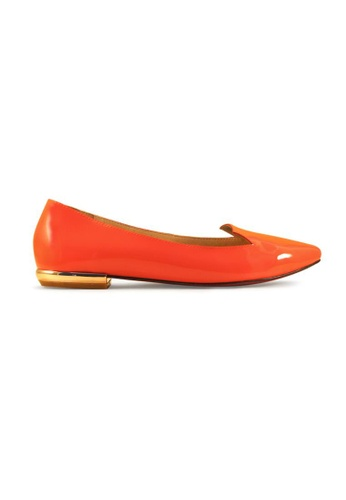 Gripz orange Sliz Glossy Slipon Loafers GR357SH56IPBSG_1