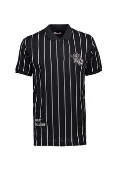 eda34e8bd BENCH black Striped Polo Shirt 41520AAA4CD26DGS 1