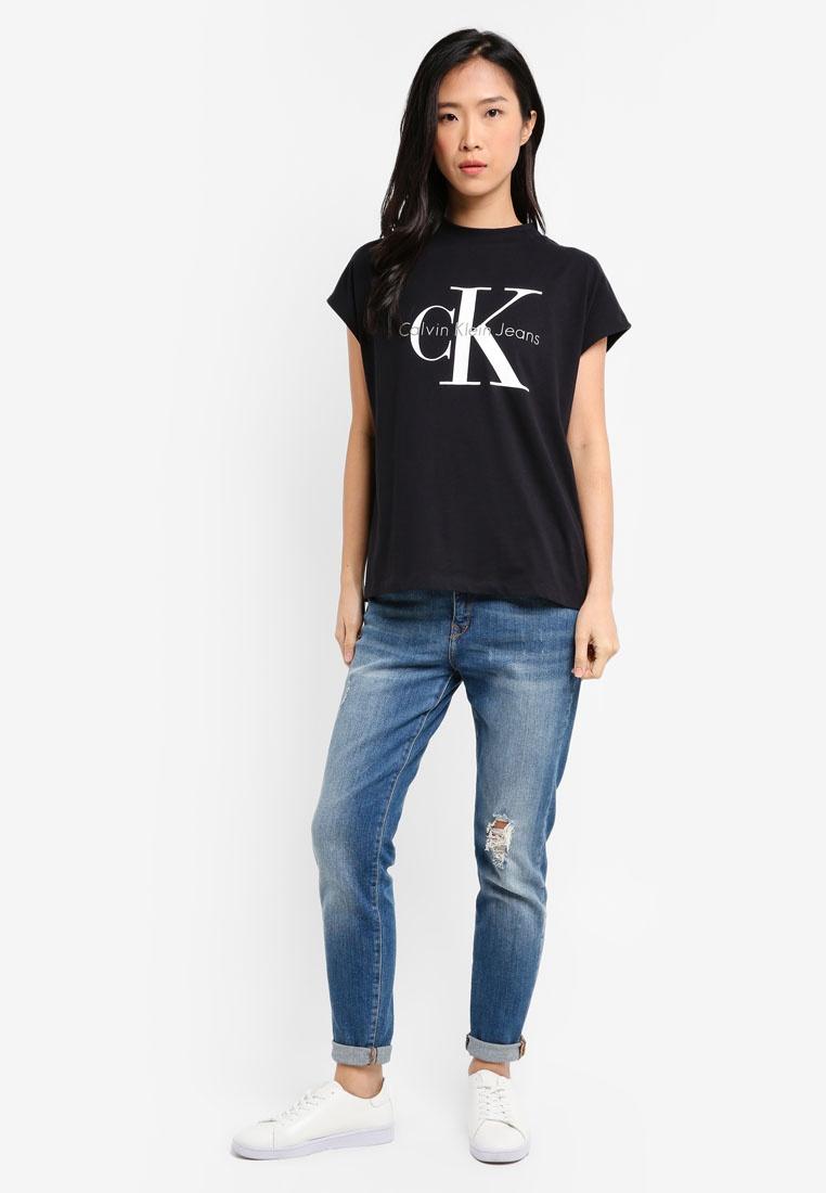5 Calvin Jeans Neck Calvin Crew Tee Klein Klein Black Taka xYE6Eqw7