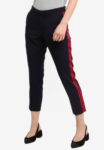 Banana Republic blue Avery Tux Stripe Long Pants 585AEAA92048CDGS_1