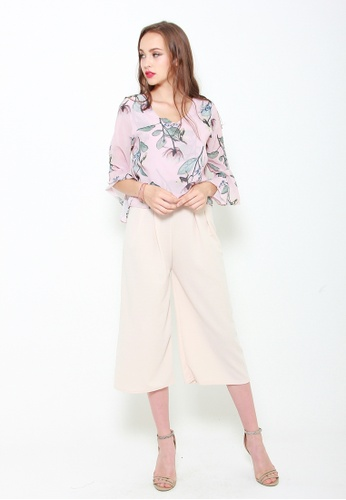 Sophialuv pink Go with the Flow Chiffon Top in Rose 88FB2AACBF9350GS_1