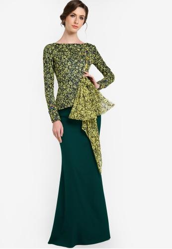 Buy Baju Kurung Emerald Green Online  ZALORA Malaysia  Brunei
