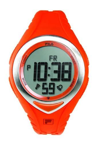 FILA Watches orange Fila Digital Silver and Orange Rubber Watch A6136AC9457591GS_1