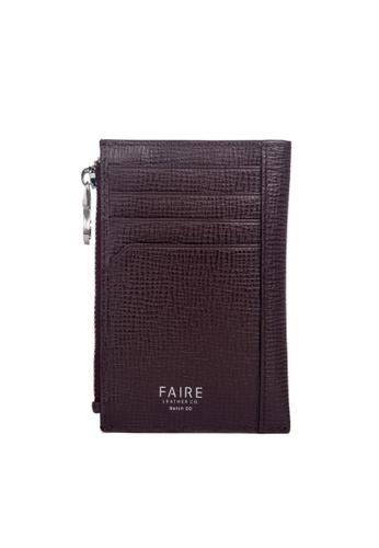 Faire Leather Co. red Specter CG Card Wallet with Coin Pouch (Burgundy) - Slim Leather Wallet CFB5EAC92F7F04GS_1