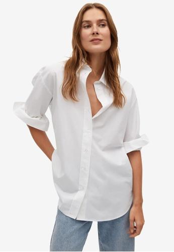 Mango white Cotton Shirt 92CADAA44E1D0DGS_1