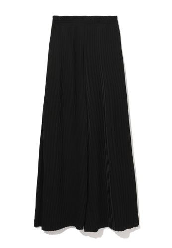 b+ab black Pleated culottes 39D5AAA1B9B8B0GS_1