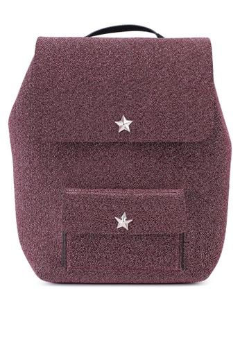 La Fille Des Fleurs pink Alma Lurex Backpack EDD4CAC4CF8037GS_1