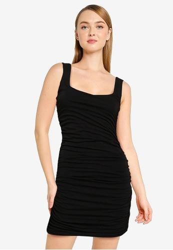 Supre black Avah Ruched Mini Dress 0FEB7AADA318CCGS_1