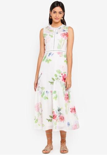 ZALORA multi Bridesmaid Lace Trim Maxi Dress AFF40AA7A30BABGS_1