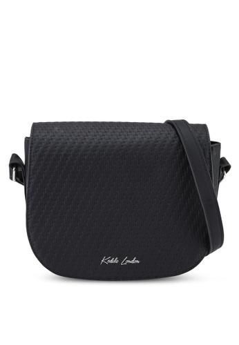 Keddo black Roondeau Sling Bag 9B334AC80B3844GS_1