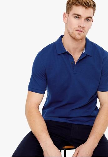 MARKS & SPENCER blue Pure Cotton Polo Shirt 2F66DAA17F581CGS_1