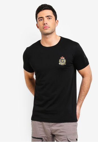 Brave Soul 黑色 Chest Badge T-Shirt 8C631AA93507AAGS_1
