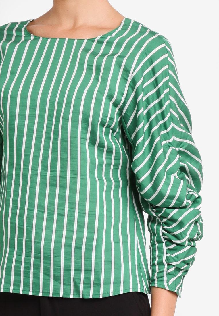 Draped Draped Blouse Draped Mango Green Mango Draped Green Mango Blouse Blouse Green Mango Blouse Green gUwIqAw