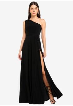 46e70a50d7 MISSGUIDED black Twist Slinky Maxi Dress 89278AAEDF7C49GS 1