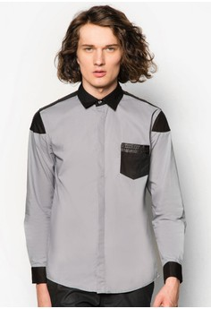 Tribal Weave Trim Long Sleeve Shirt