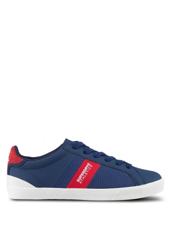 Superdry red and navy Vintage Court Trainer 890C1SH0A1ACC4GS_1