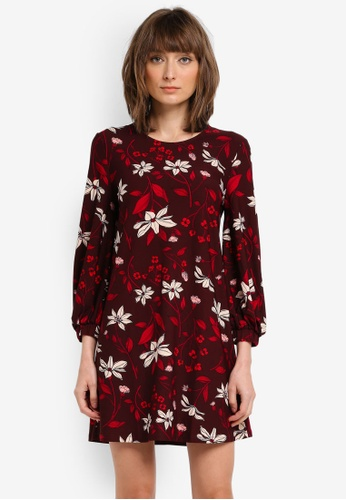 Mango red Flowy Printed Dress MA193AA0T1KGMY_1