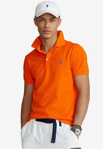 Polo Ralph Lauren orange Slim Fit Cotton Polo Shirt A04F1AAE52C96EGS_1