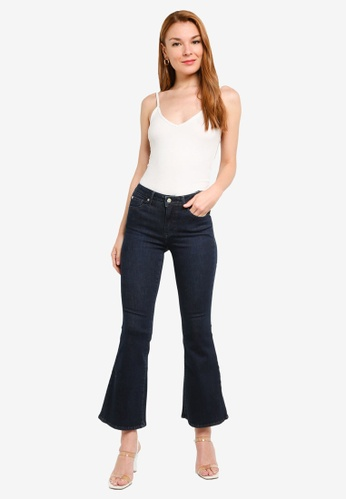 d855799fb Guess Cropped Flare Denim Jeans