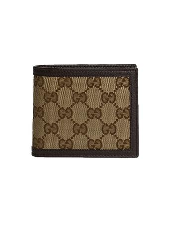 GUCCI 多色 and 米褐色 Gucci Men's Signature Bifold Wallet 260987 04A83AC7E32092GS_1