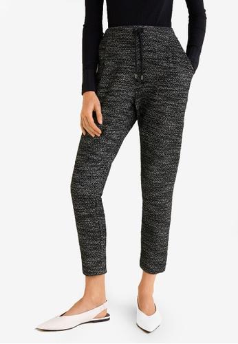 MANGO grey Flecked Jogging Trousers 4E69DAAA387F3DGS_1