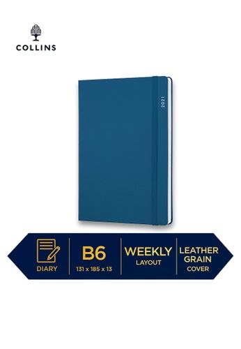 Collins blue Collins Metropolitan  Glasgow ─ 2021 Calendar Year Diary ─ Indigo ─ B6 Week to View 948BFHL9E60F51GS_1
