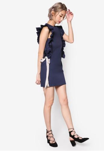 esprit專櫃荷葉飾無袖連身裙, 服飾, 洋裝