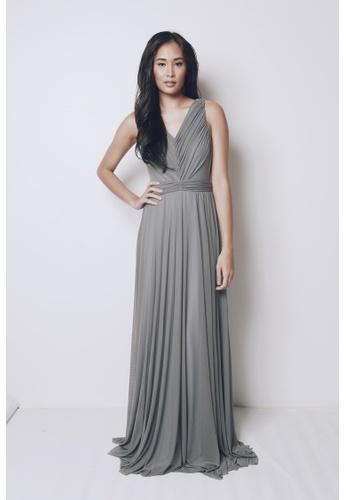Tantease grey Natalia Long Gown TA694AA40JWTPH_1
