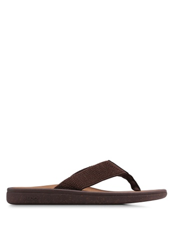 ALDO brown Welawien Flip Flops D5961SH1008CDAGS_1